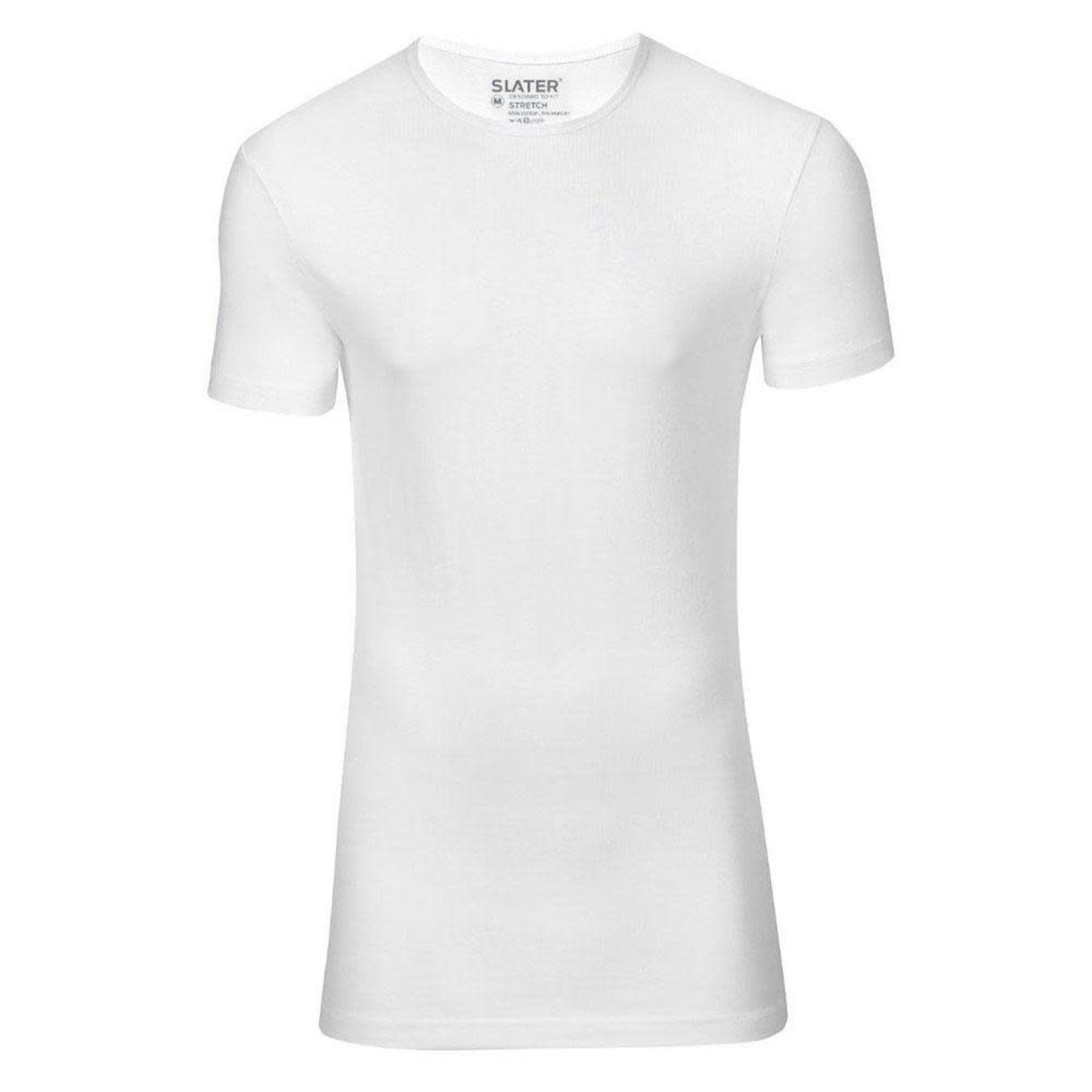 Slater Stretch 2-pack ronde hals t-shirt wit
