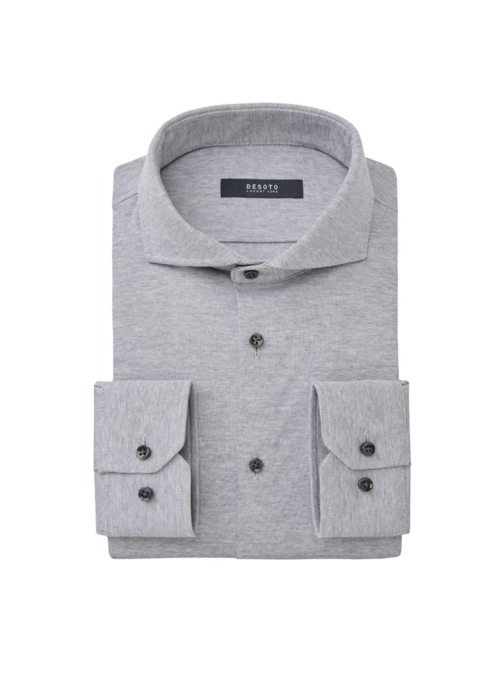 Desoto Luxury jersey overhemd grijs