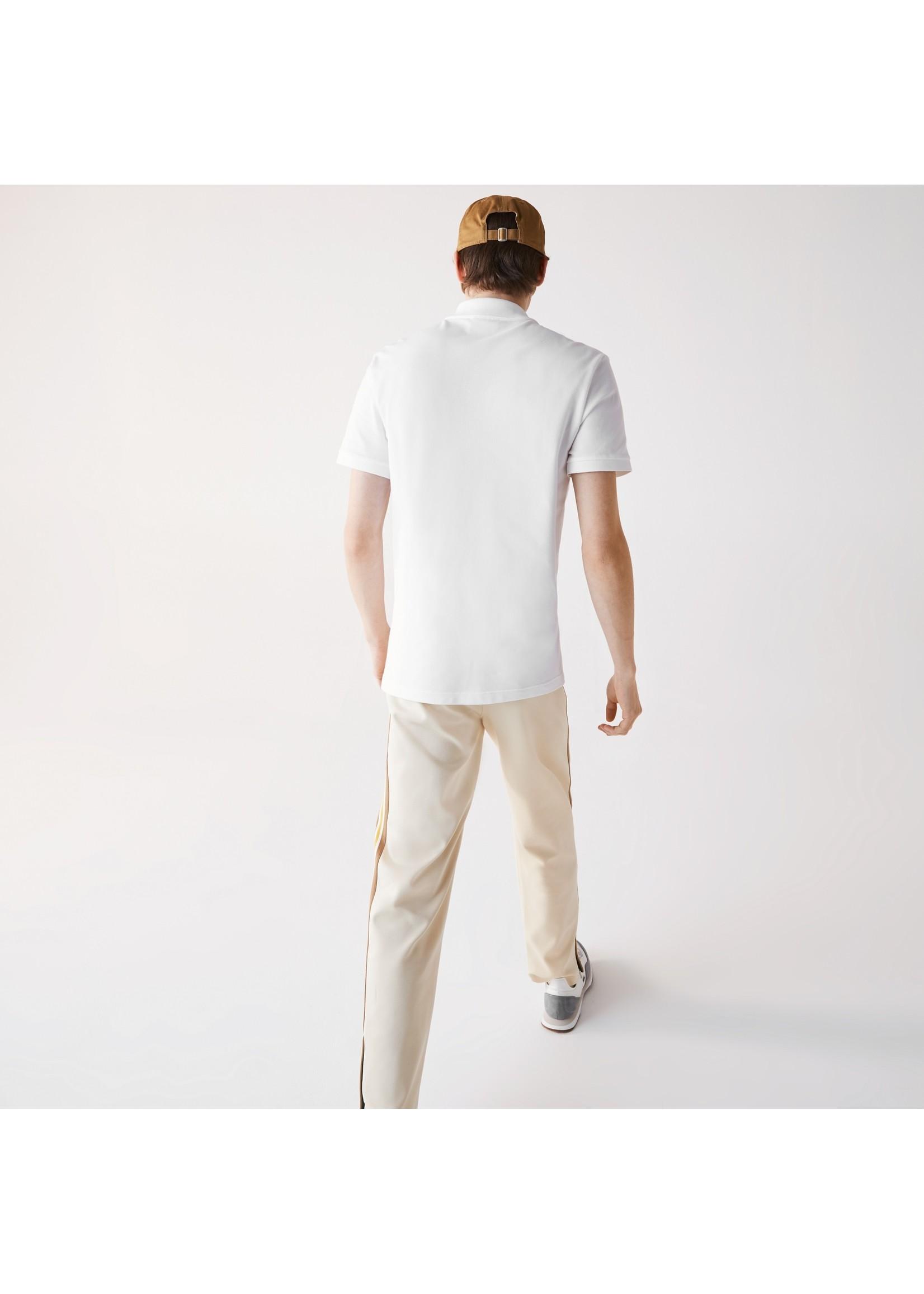 Lacoste stretch polo korte mouw wit