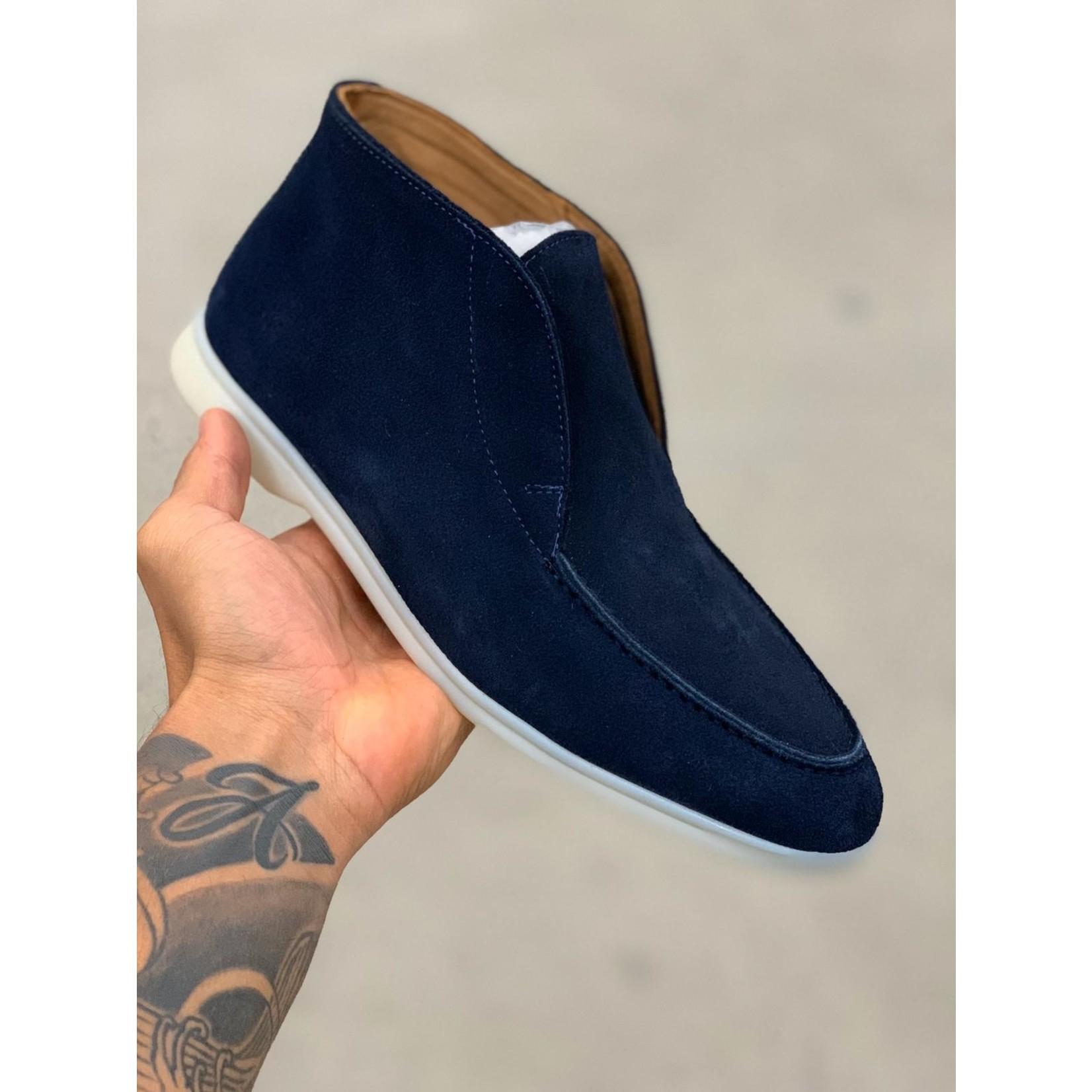 HON mid high top suede schoenen marine
