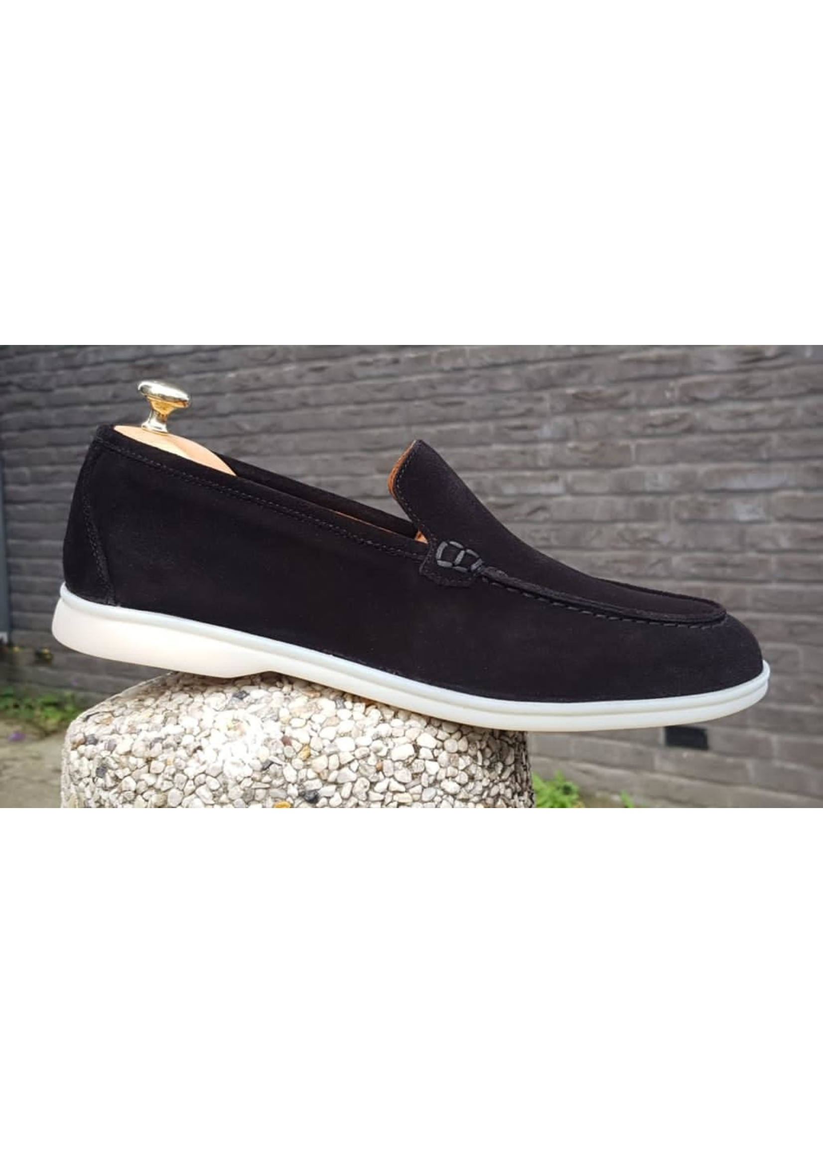 HON low top suede schoenen marine