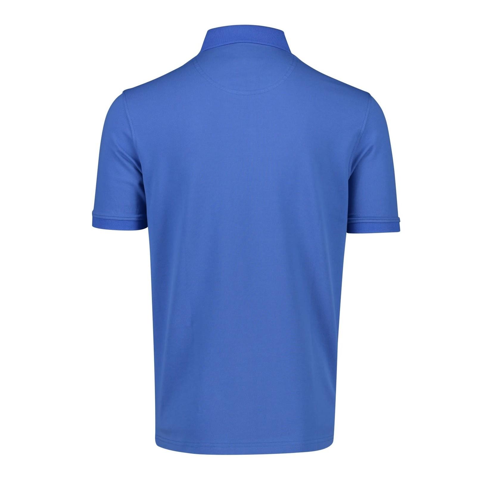 Portofino polo korte mouw blauw