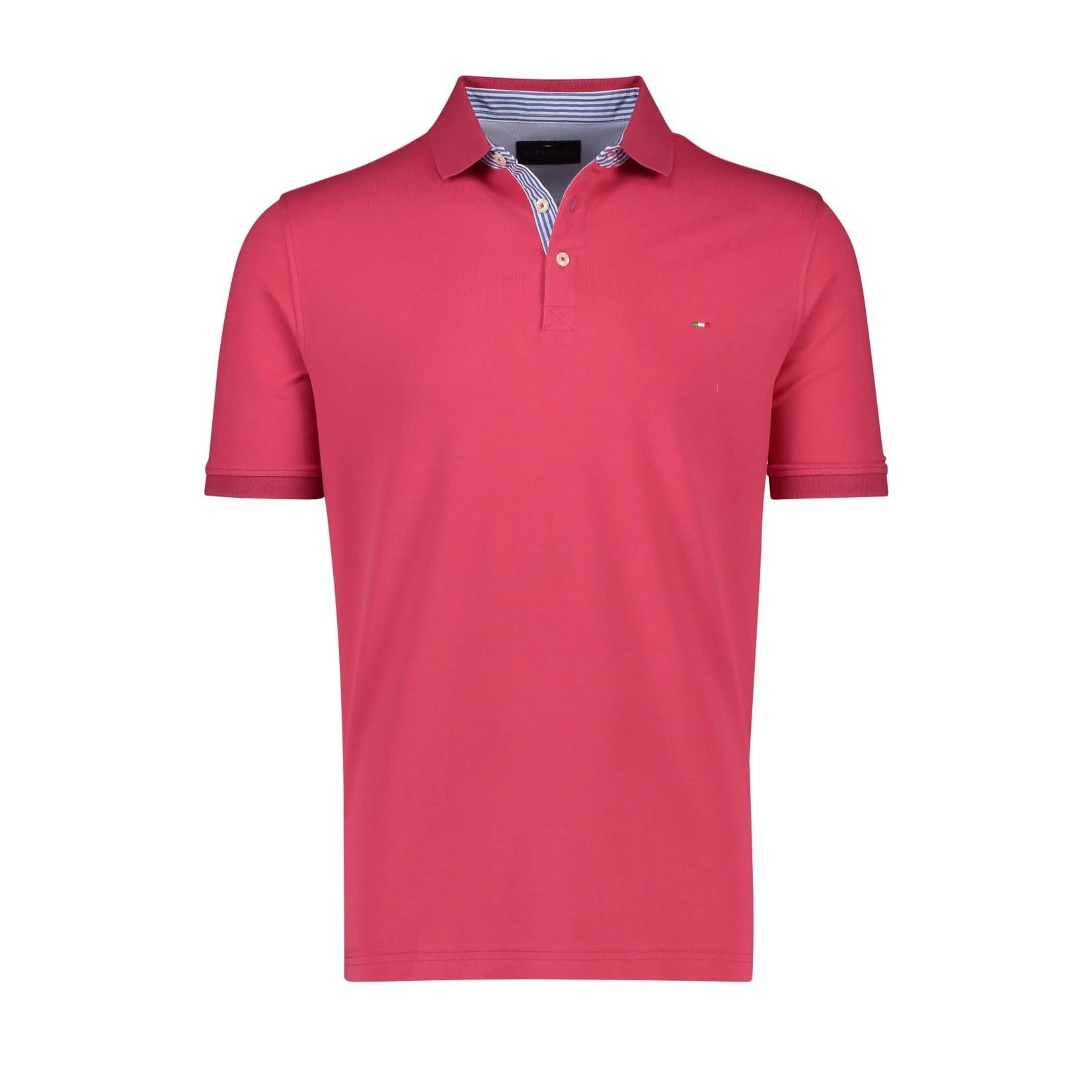Portofino polo korte mouw cerise roze