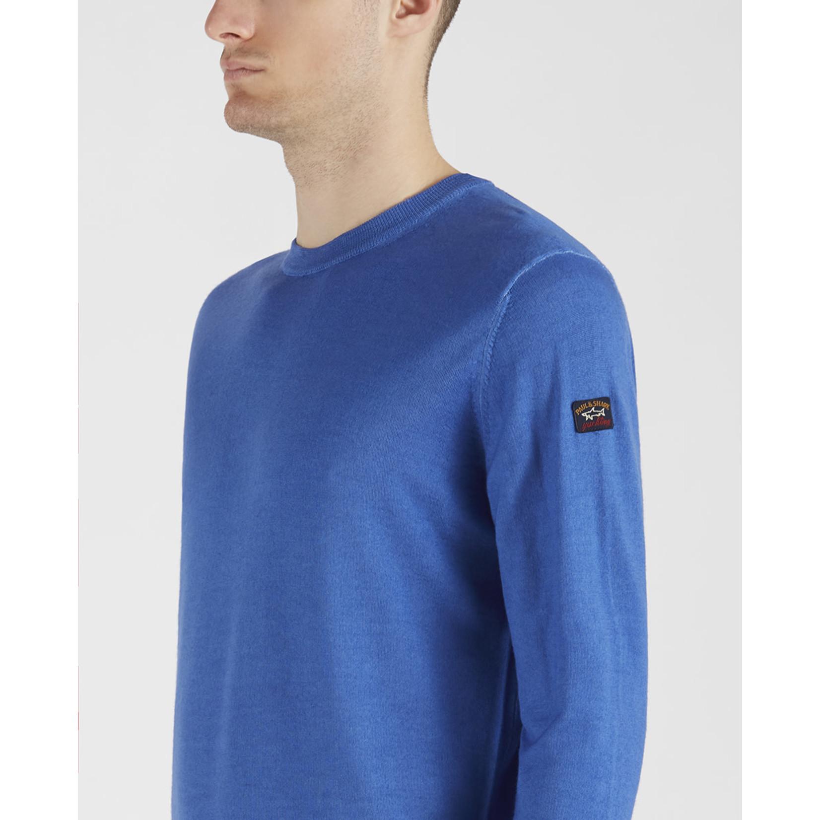 Paul & Shark pullover ronde hals blauw