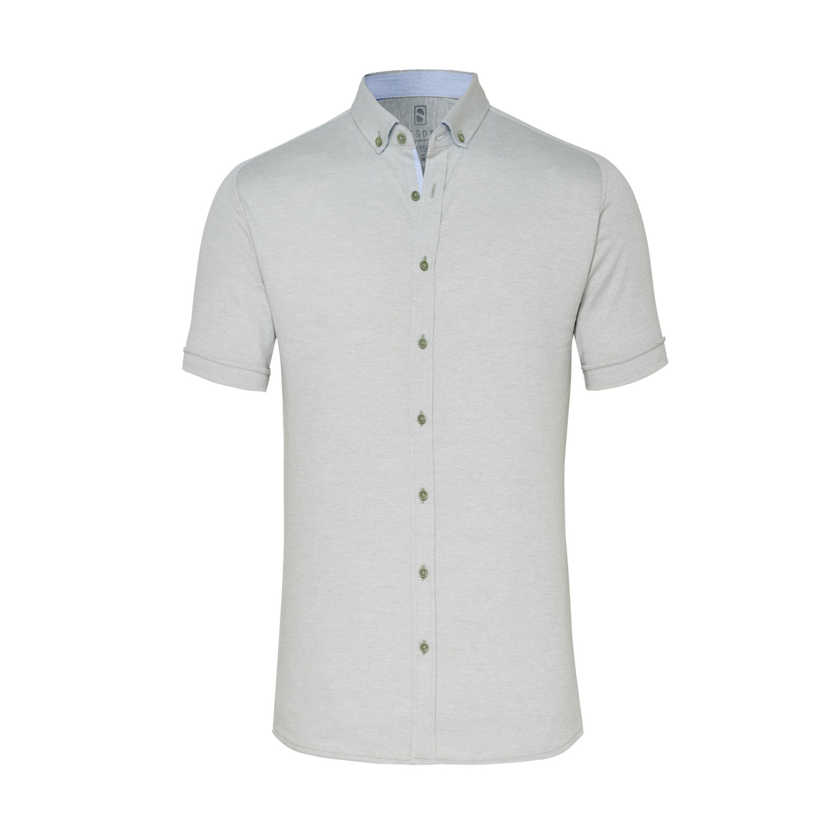 Desoto jersey korte mouw overhemd lichtgroen