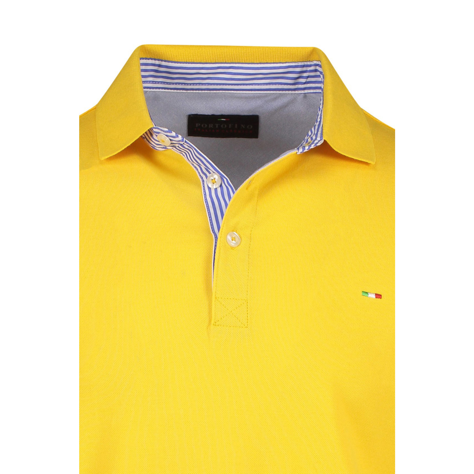 Portofino polo korte mouw geel