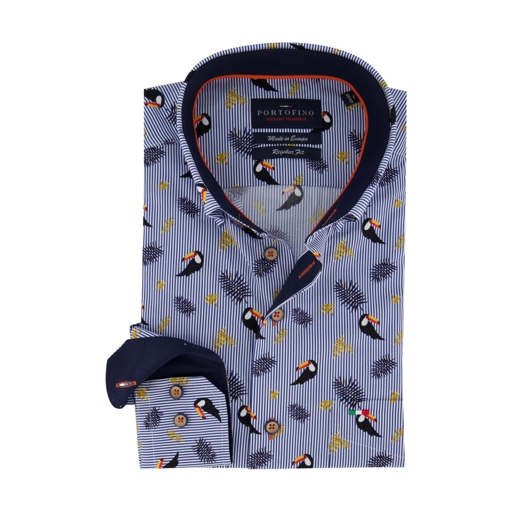 Portofino overhemd regular fit toekan print
