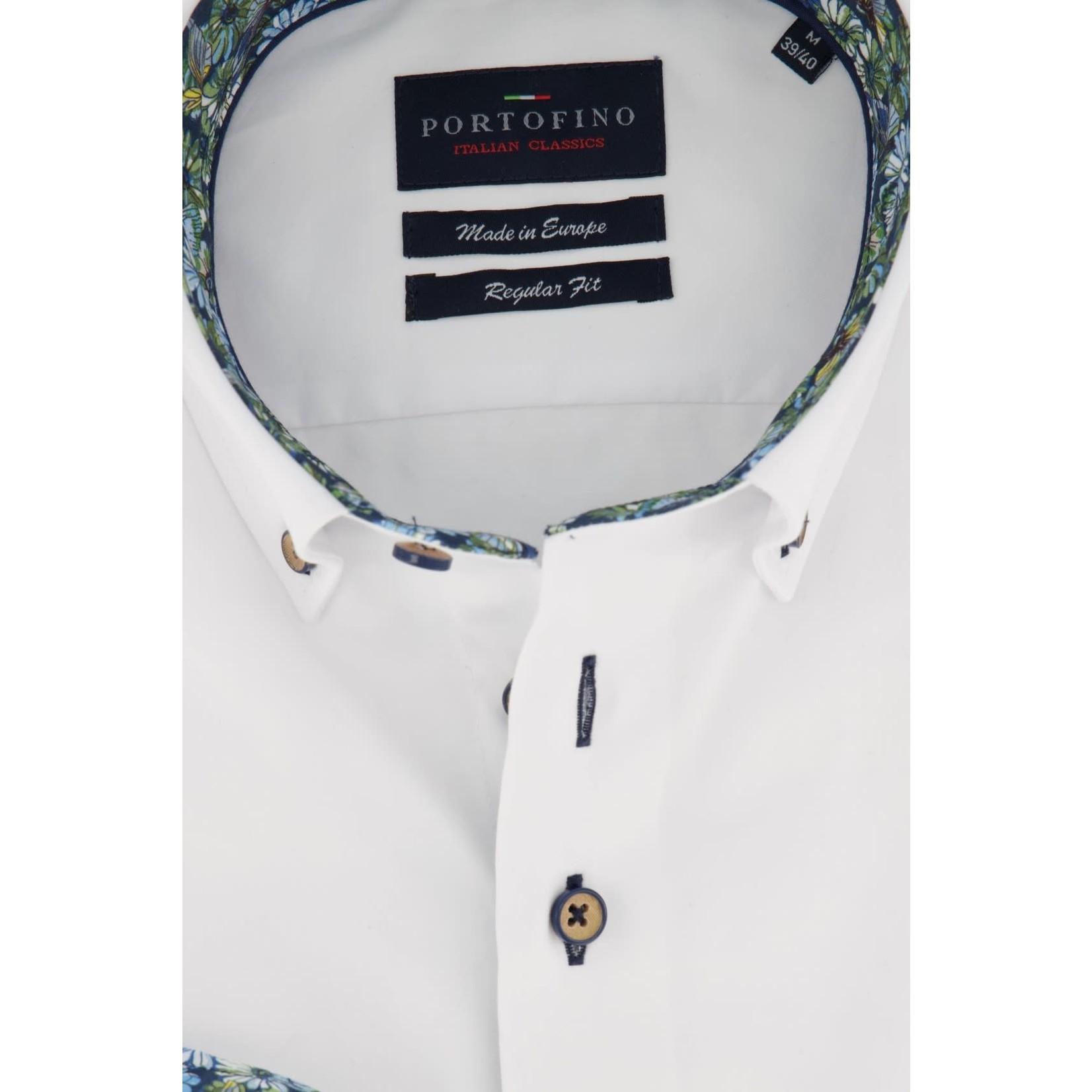 Portofino overhemd regular fit wit