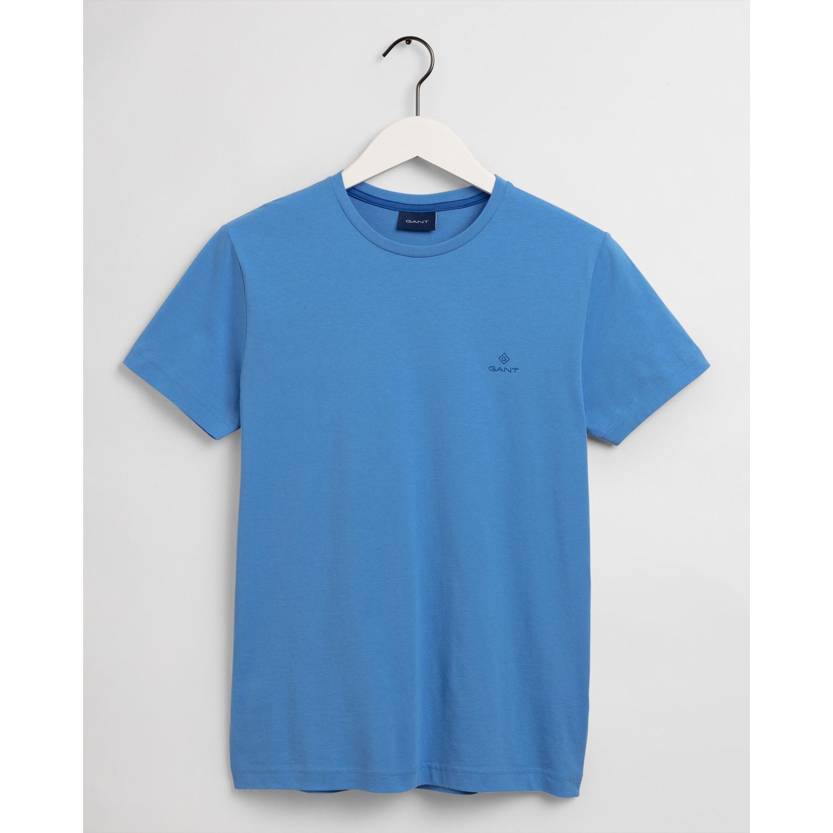 GANT T-shirt met contrasterend logo kobalt