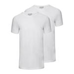 Slater Basic Fit 2-pack ronde hals t-shirt wit