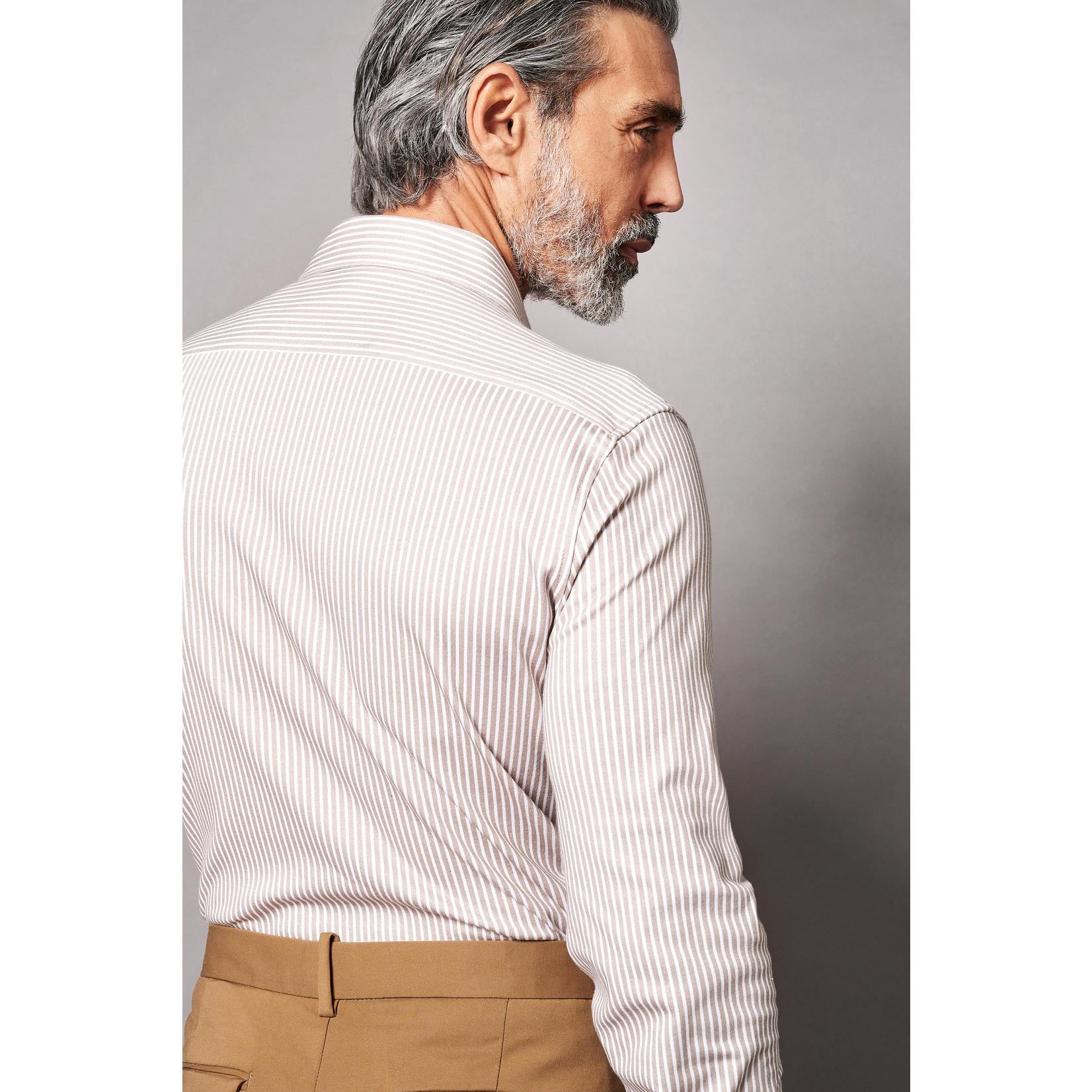 Desoto Luxury jersey overhemd beige streep