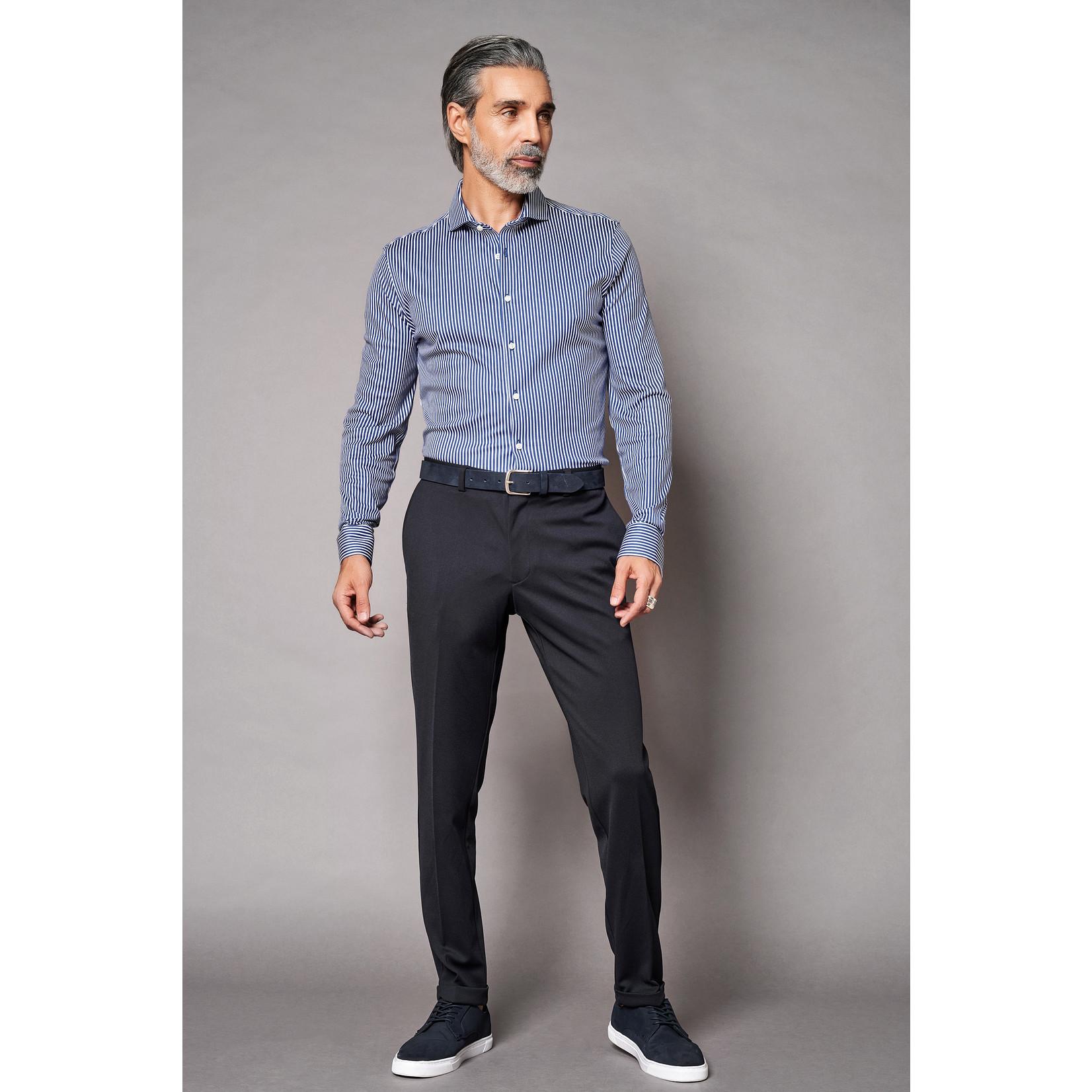 Desoto Luxury jersey overhemd blauw streep