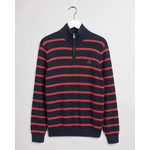 GANT zip sweater met Bretonse streep