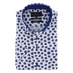 Portofino korte mouw overhemd regular fit bramen