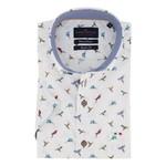 Portofino korte mouw overhemd regular fit vogeltjes