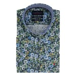 Portofino korte mouw overhemd regular fit bloemen