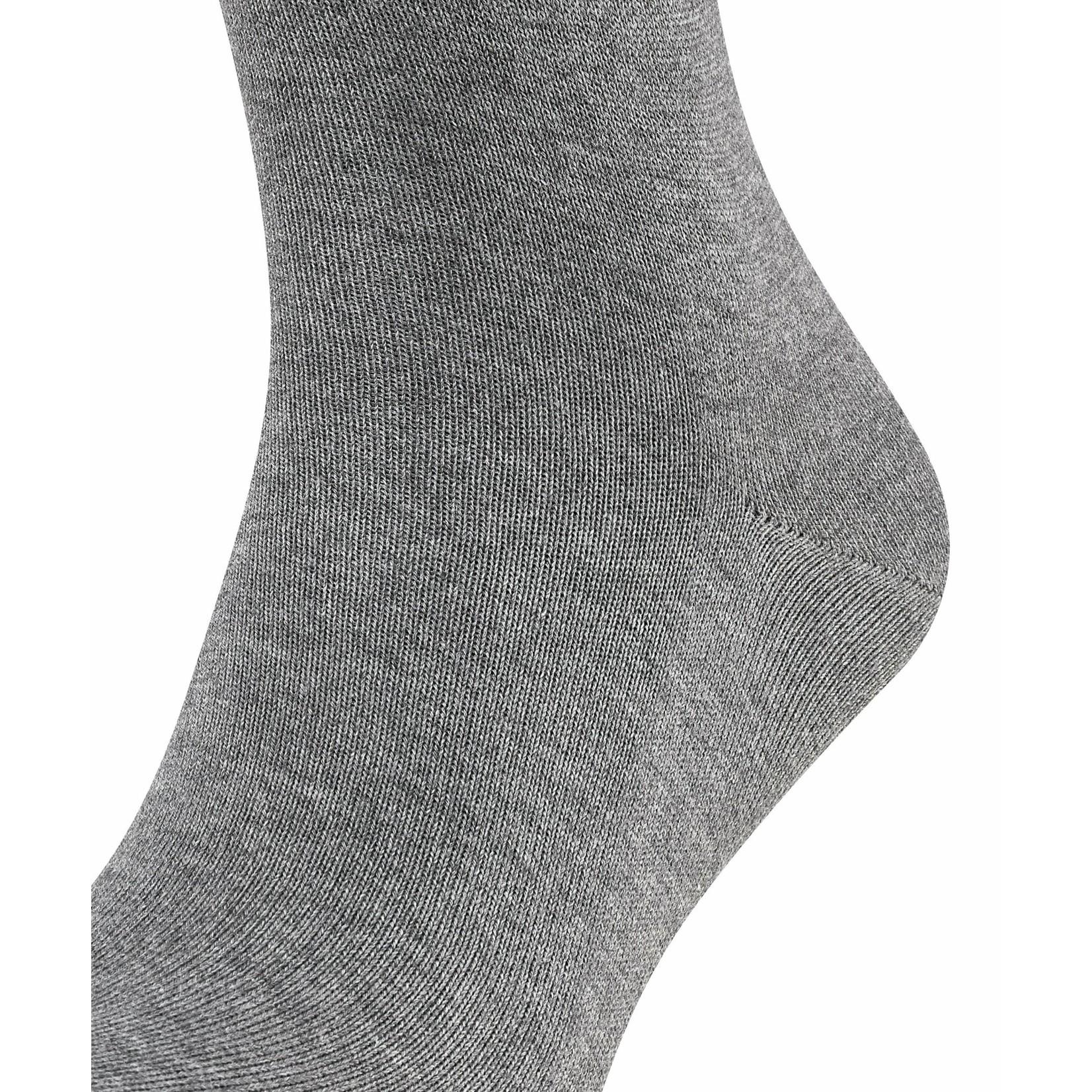Falke Family korte sokken lichtgrijs melange