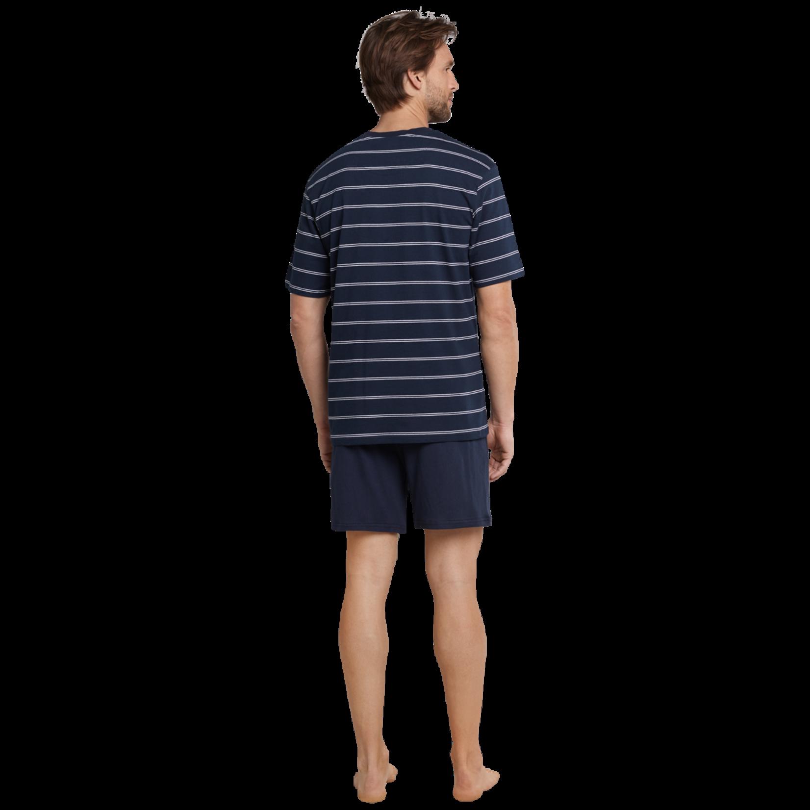 Schiesser pyjama short marine streep