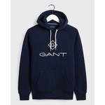 GANT logo hoodie marine