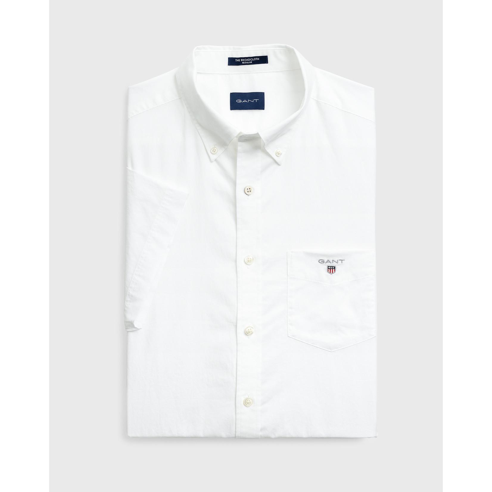 GANT regular fit overhemd korte mouw wit