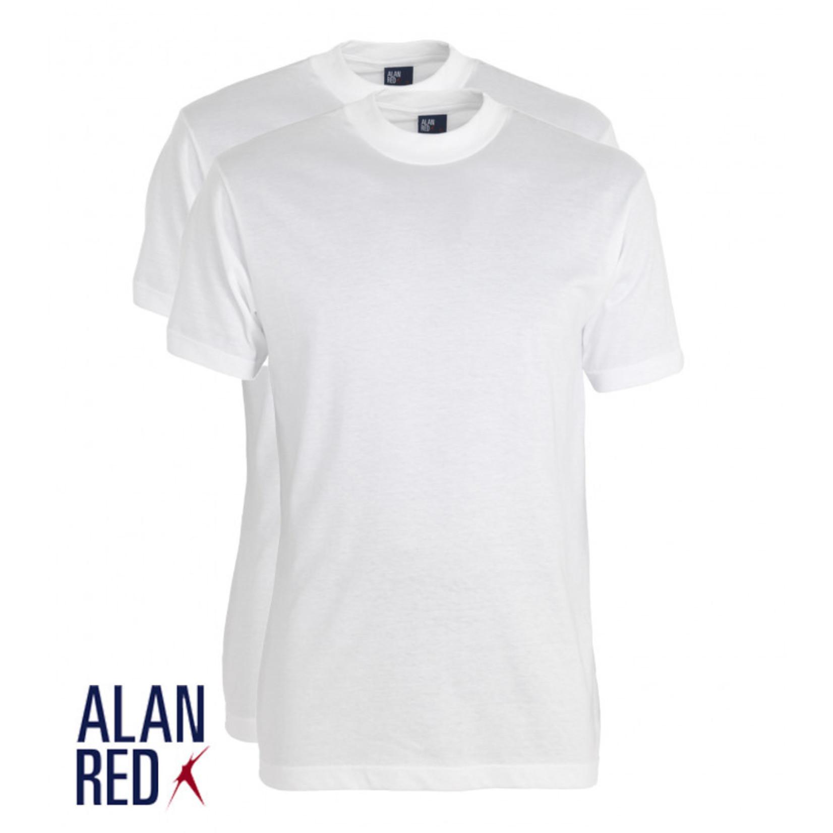 Alan Red Virginia 2-pack ronde hals t-shirt wit