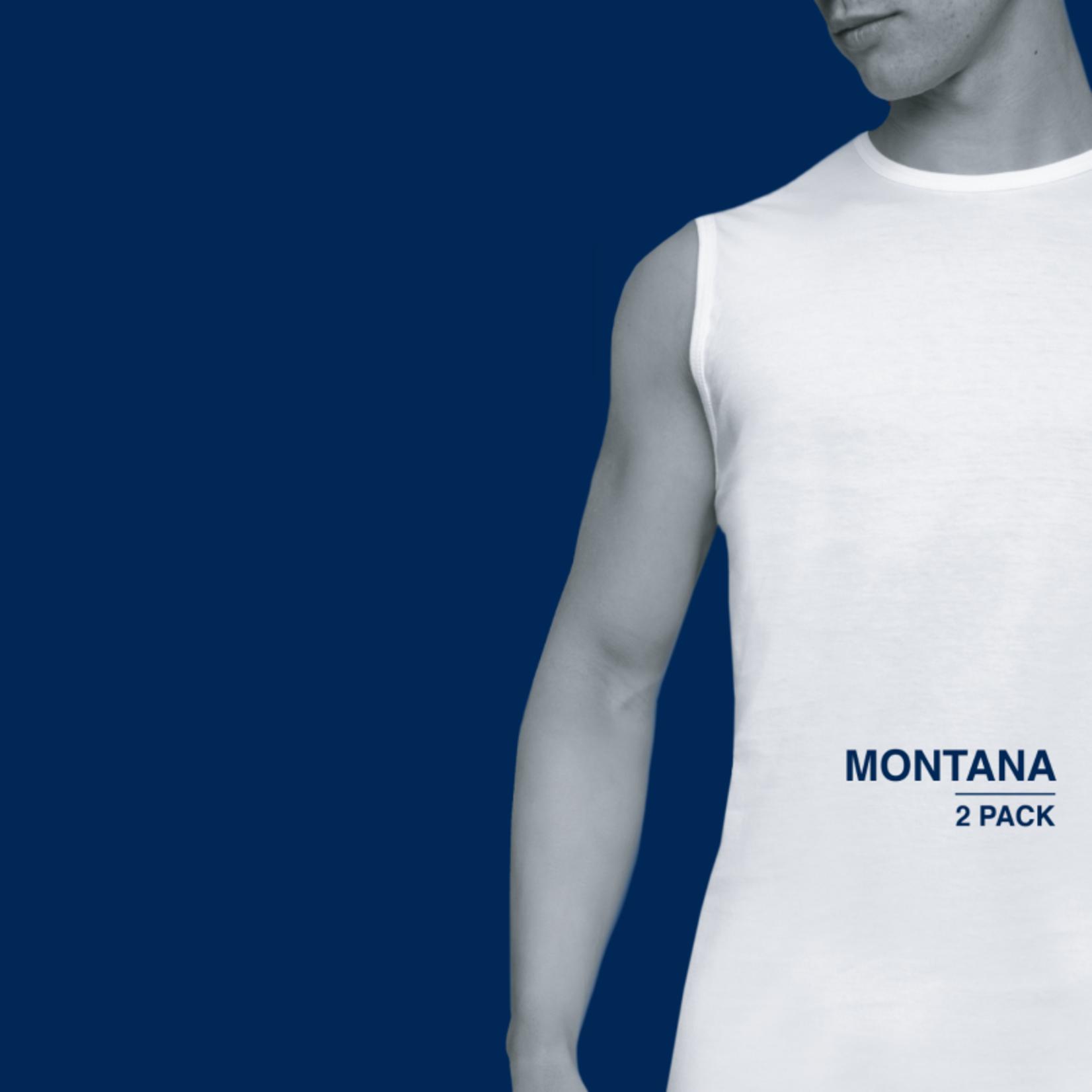Alan Red Montana 2-pack mouwloze ronde hals t-shirt wit