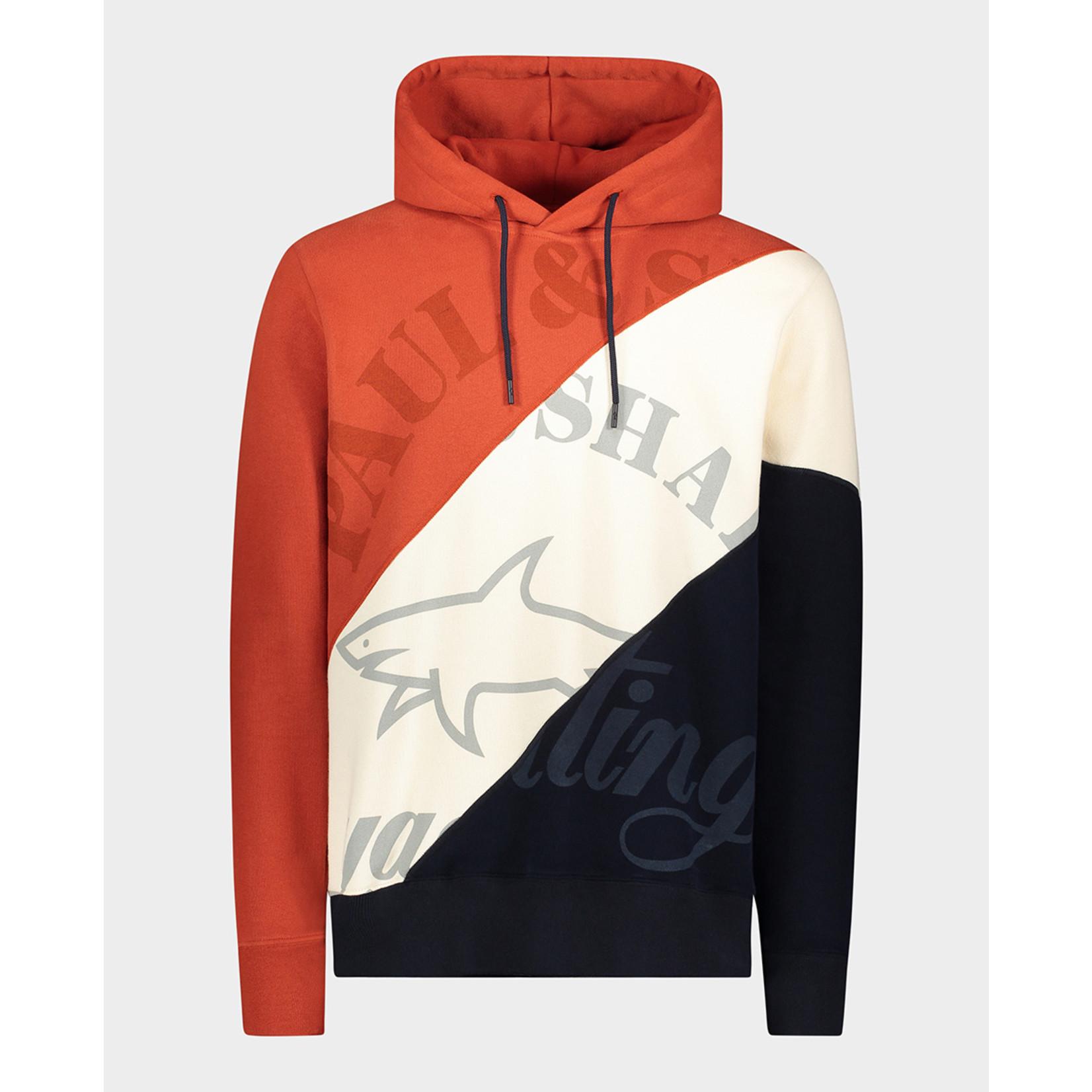 Paul & Shark hoodie brique marine combinatie