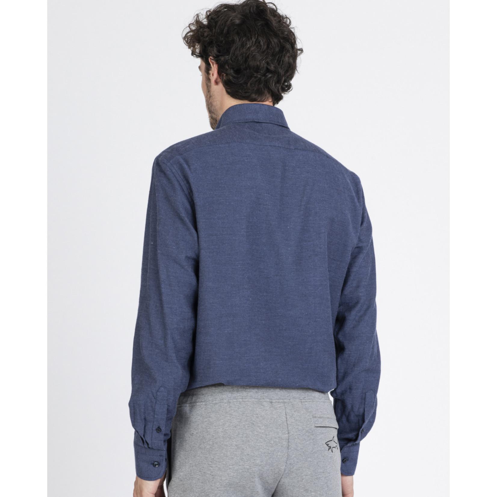 Paul & Shark regular fit overhemd blauw
