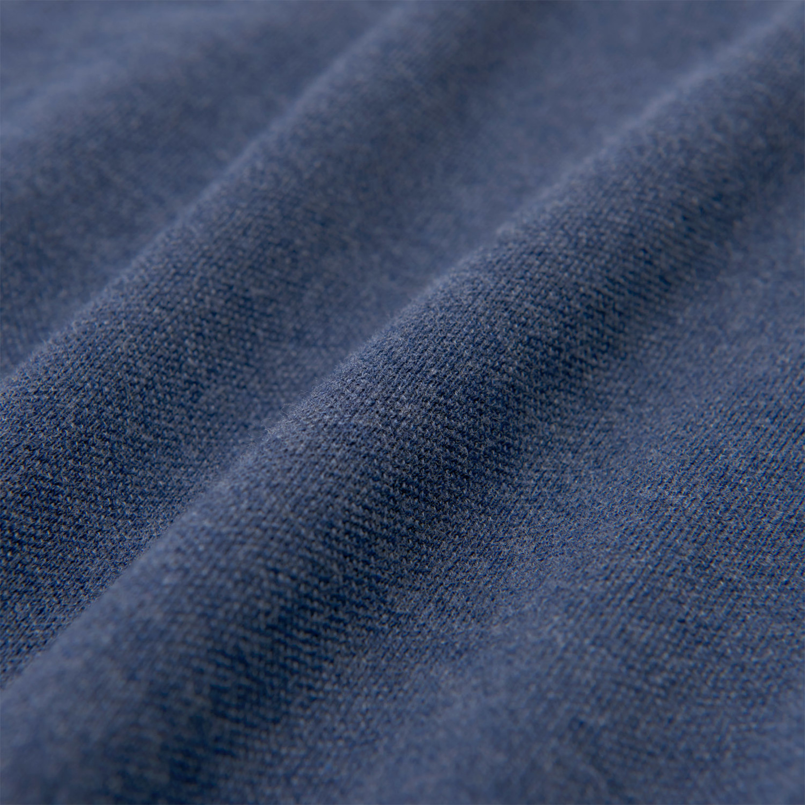 GANT polo lange mouw jeansblauw