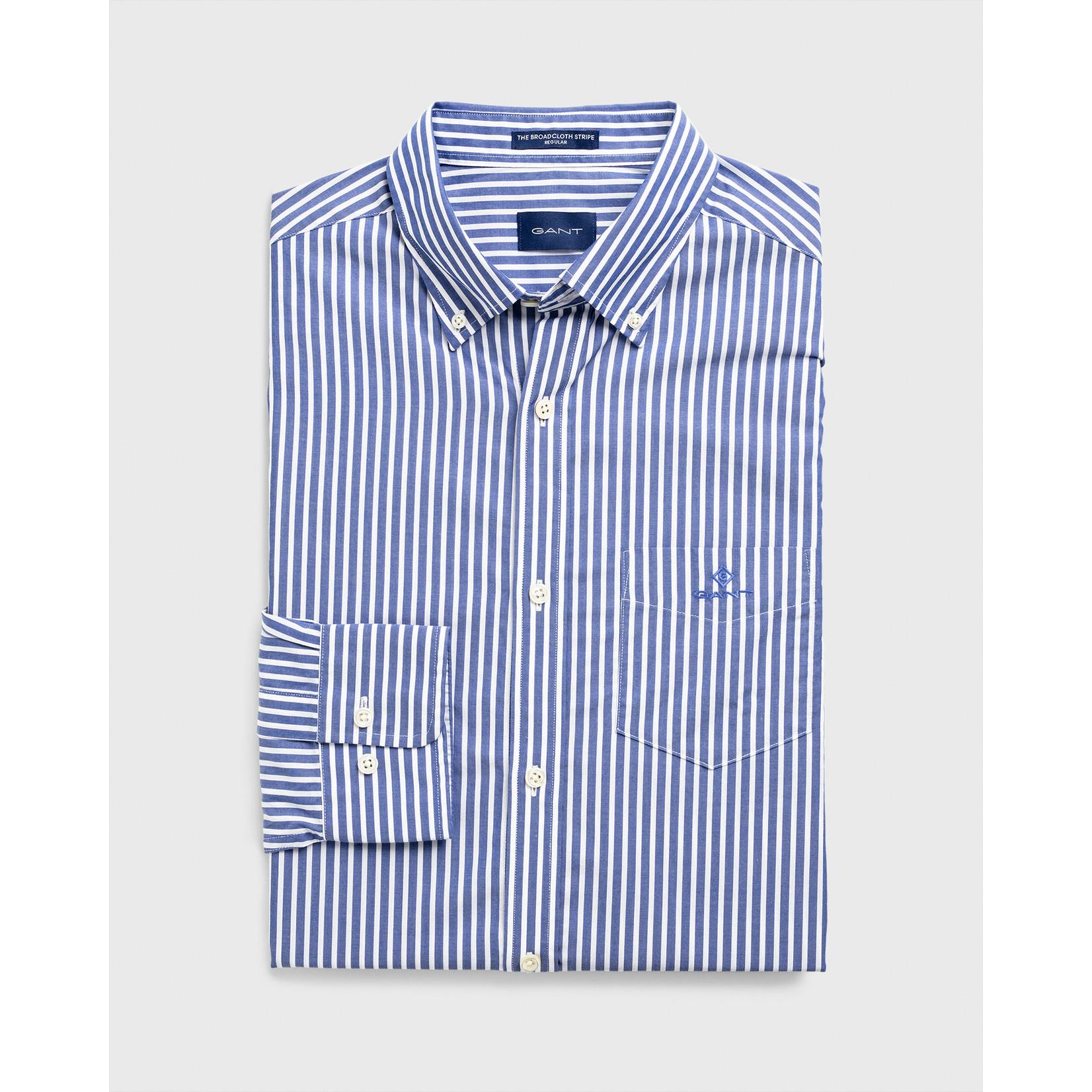 GANT regular fit overhemd blauw streep