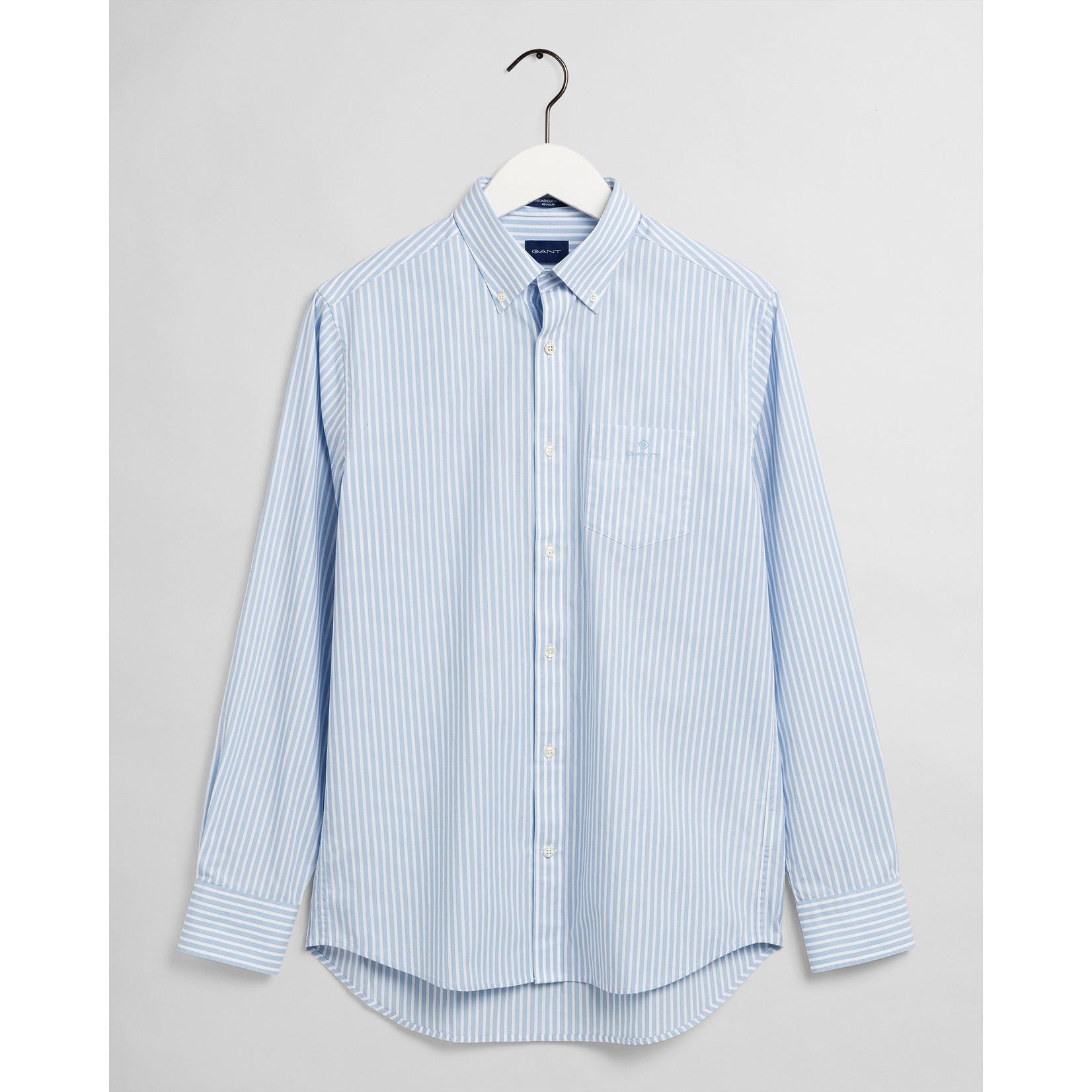 GANT regular fit overhemd lichtblauw streep