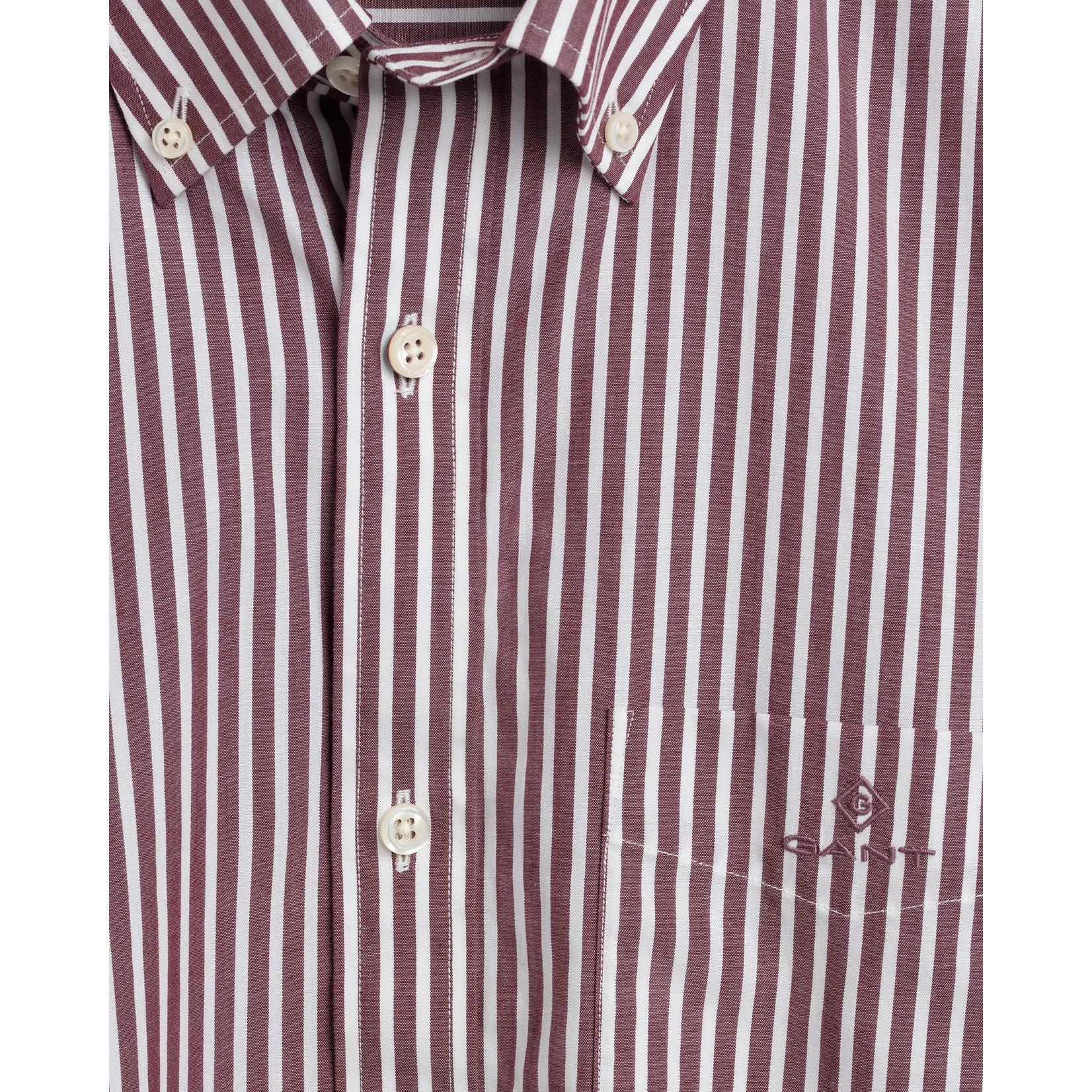 GANT regular fit overhemd rood streep