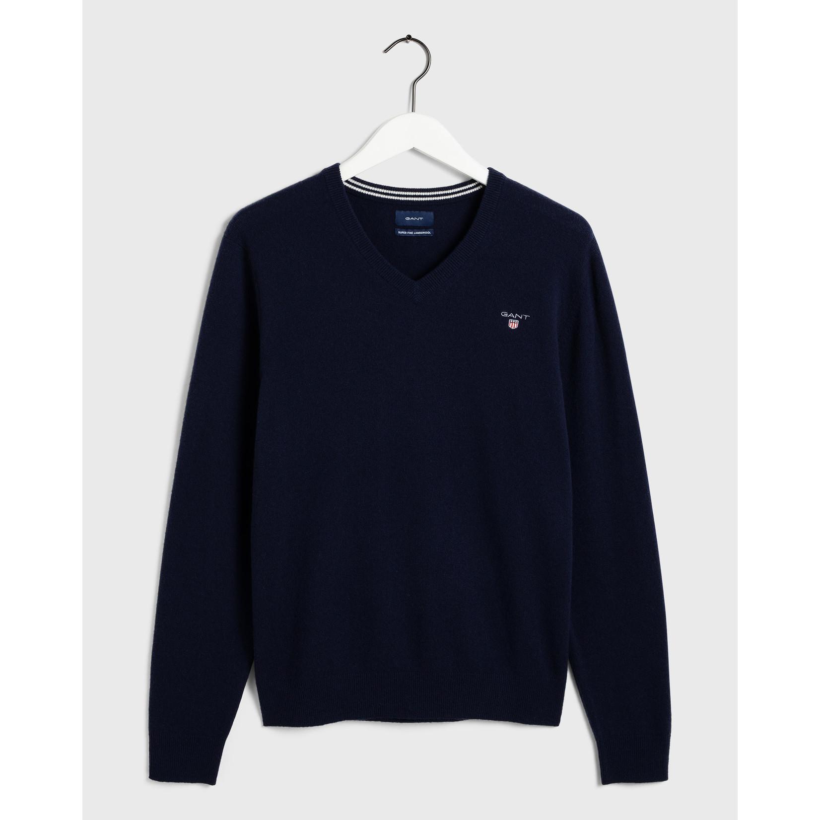 GANT pullover v-hals lamswol marine