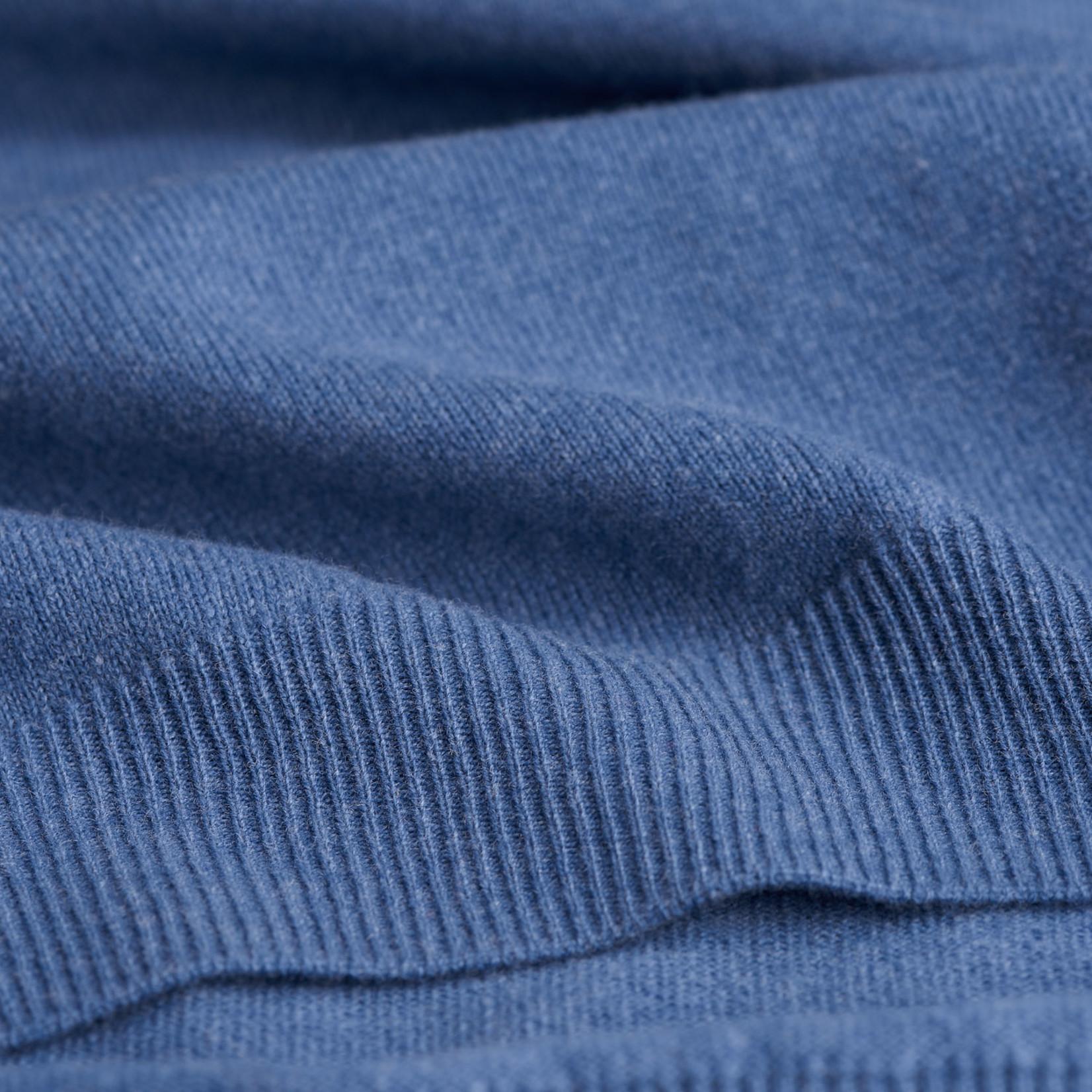 GANT pullover v-hals lamswol jeansblauw