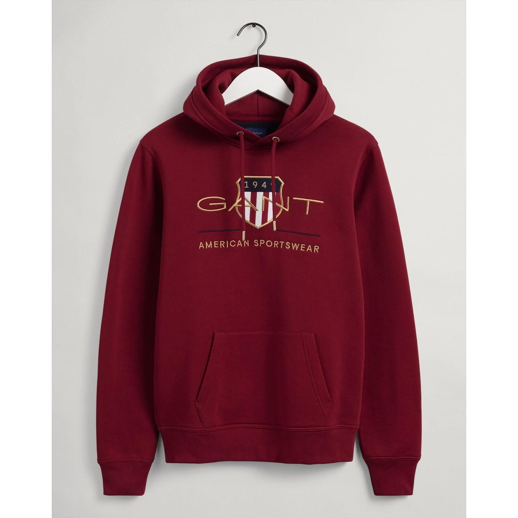 GANT Archive Shield hoodie rood