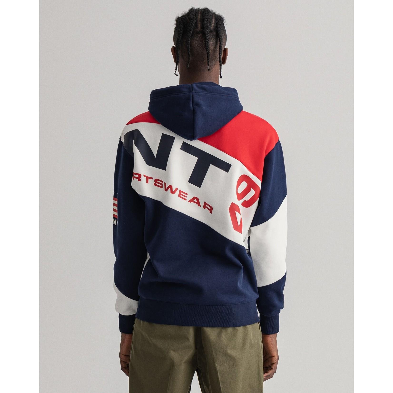 GANT Retro Shield hoodie met brede strepen