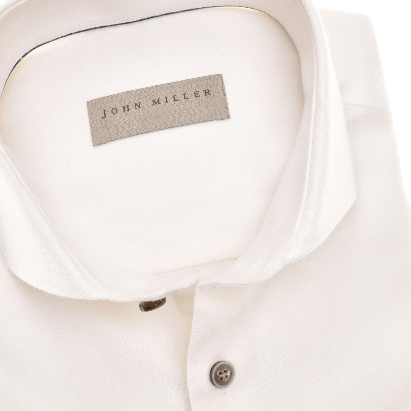 John Miller tailored fit overhemd ivoor