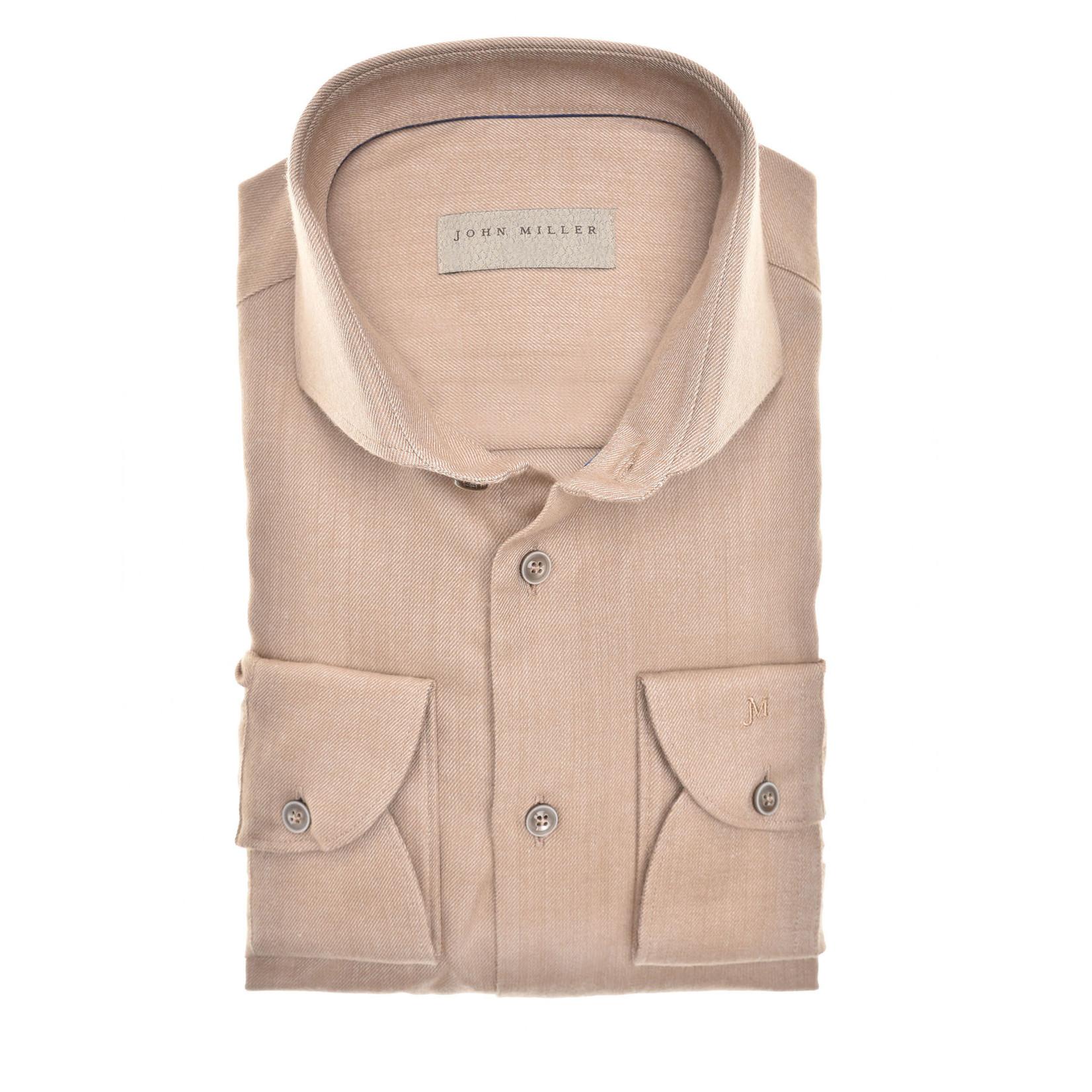 John Miller tailored fit overhemd camel