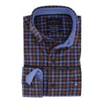 Portofino regular fit overhemd ruit blauw