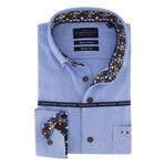 Portofino regular fit overhemd blauw