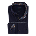 Portofino regular fit overhemd marine