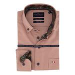Portofino regular fit overhemd crimson print