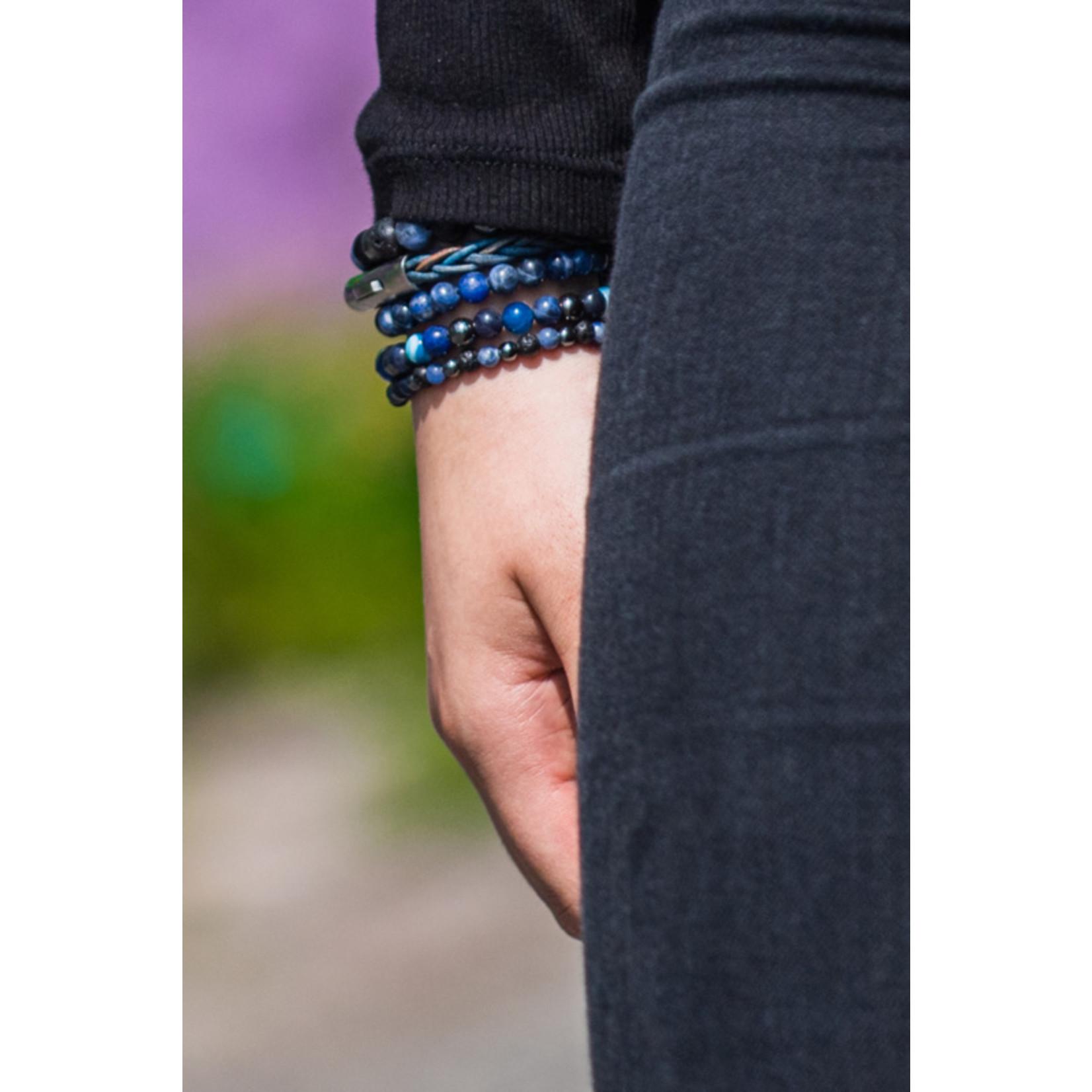 By Julian Nane armband blauw mix