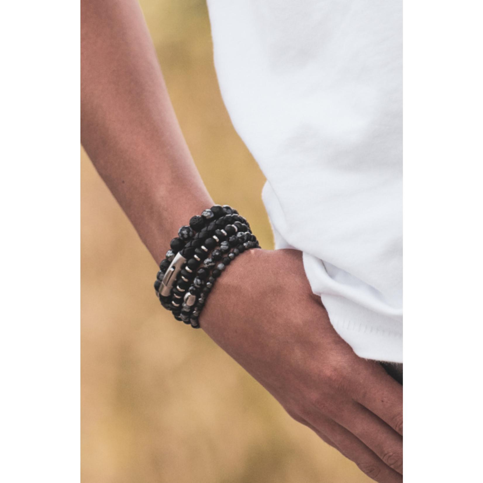 By Julian Nane armband obsidiaan