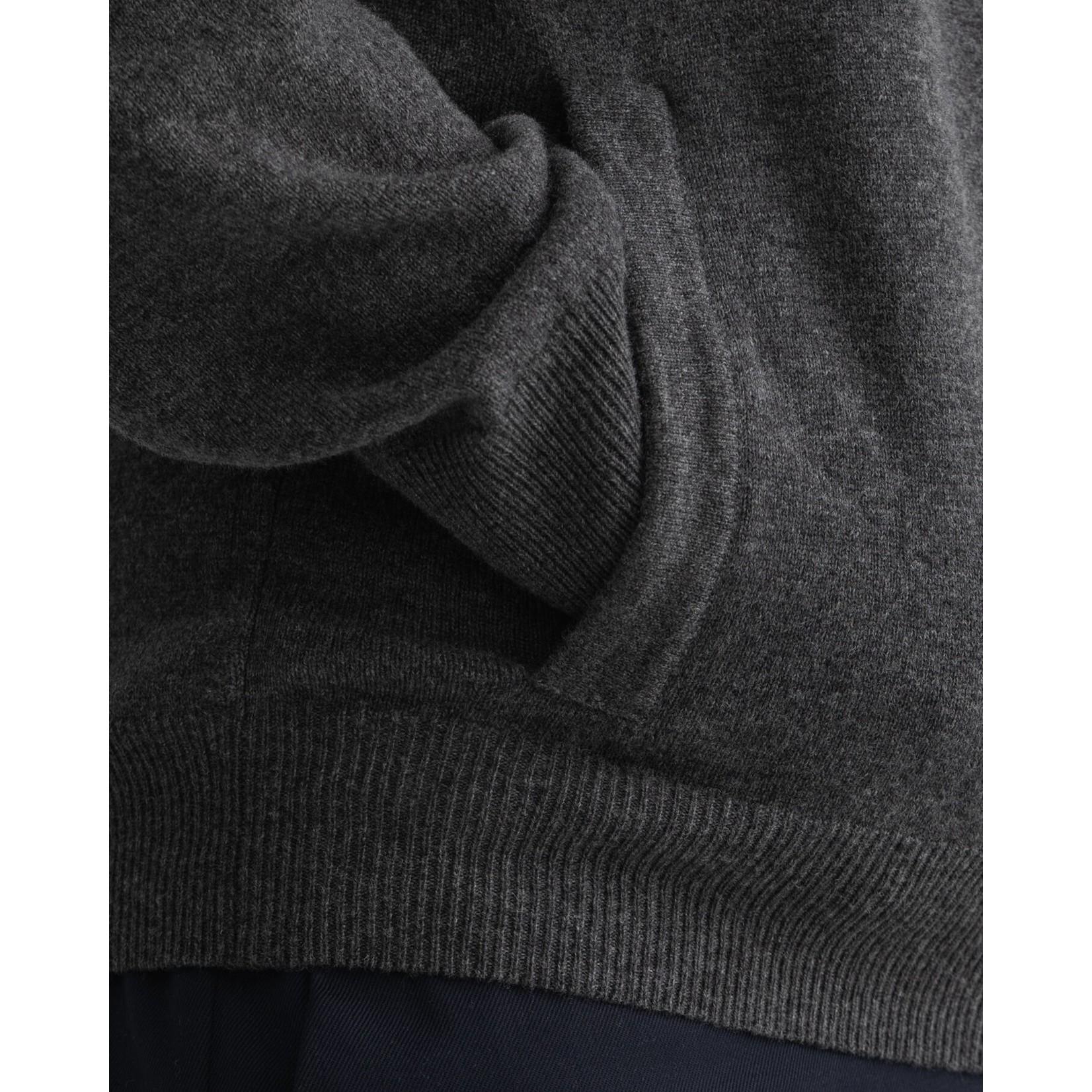 GANT lamswollen vest antraciet