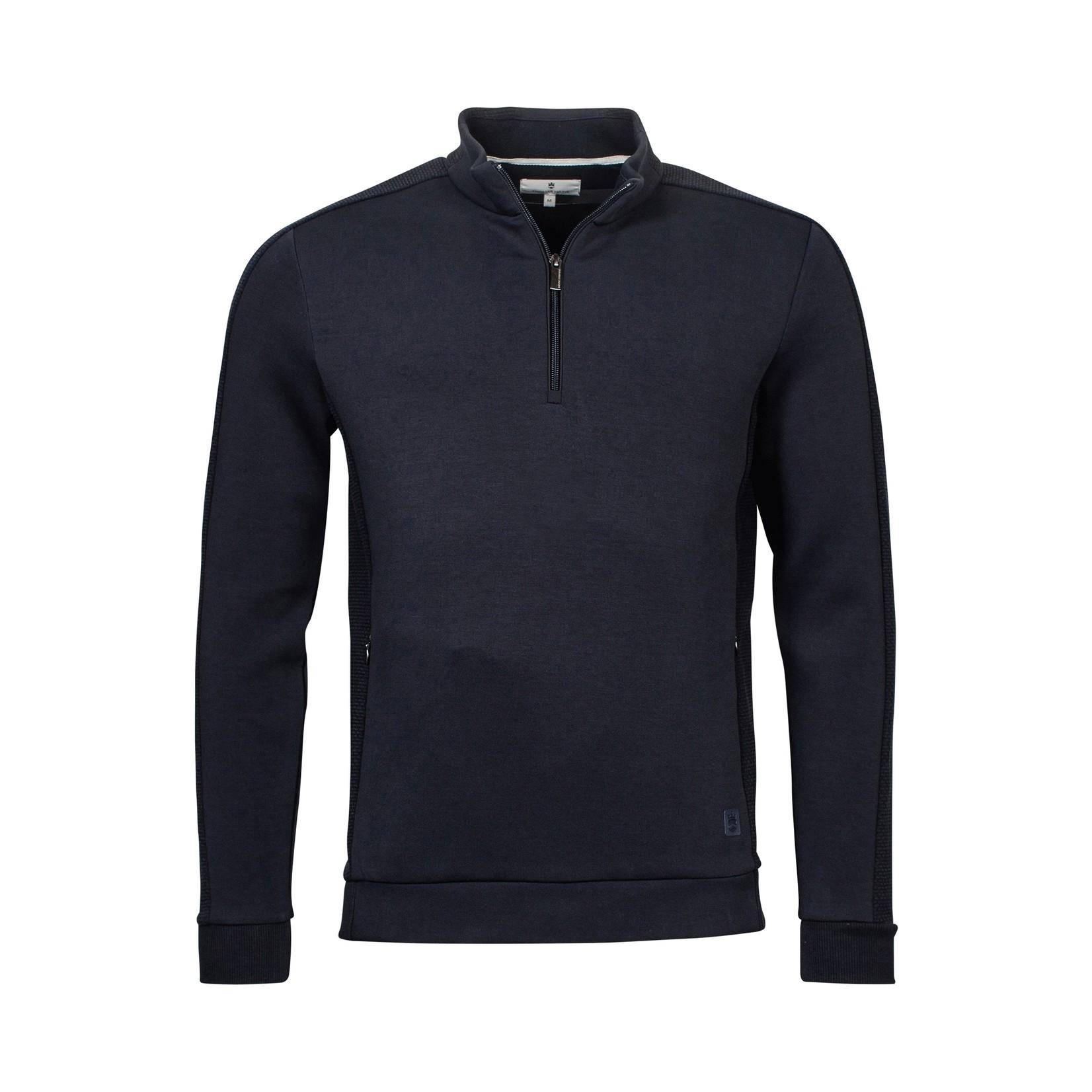 Thomas Maine sweater met korte rits marine