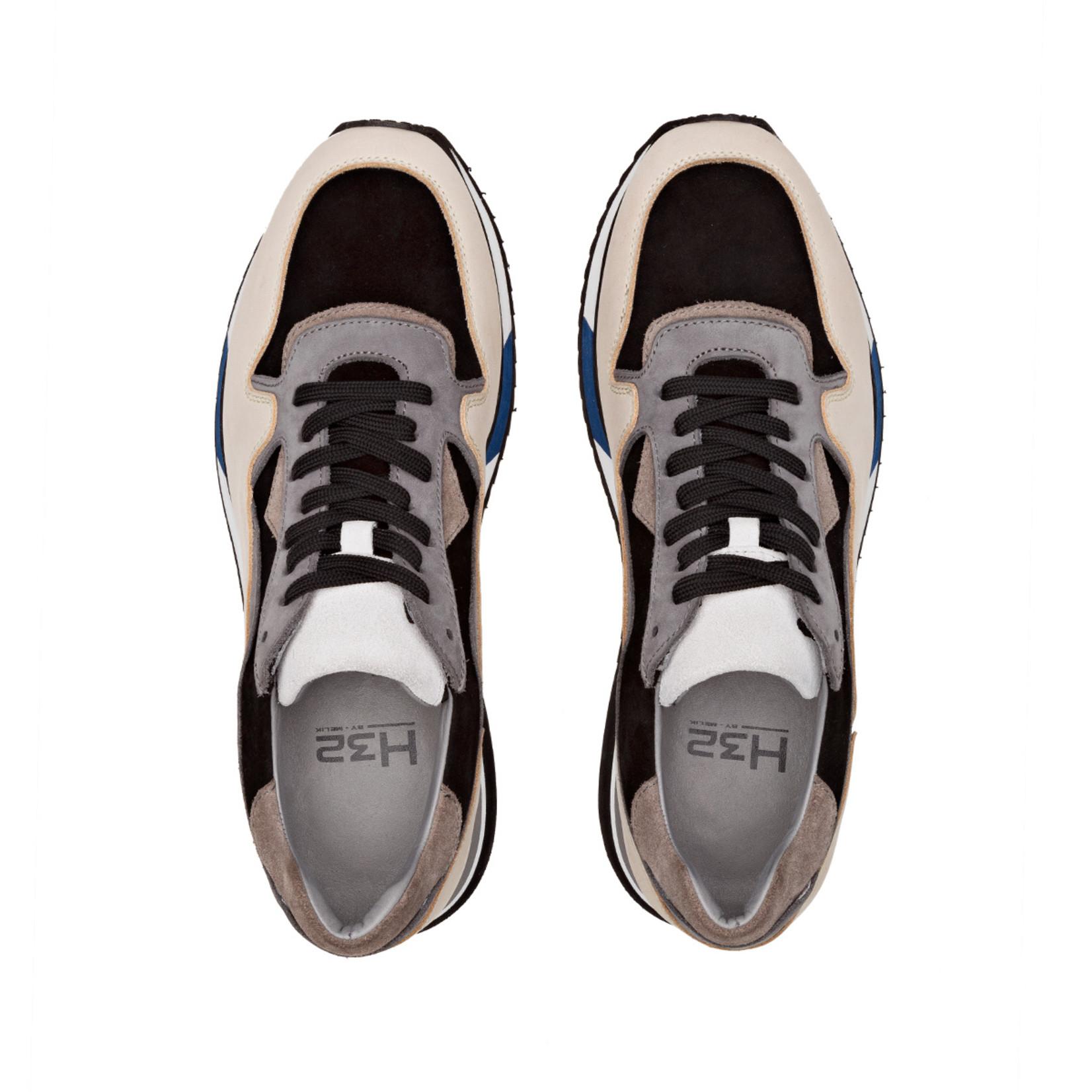 H32 Mello sneaker beige zwart grijs