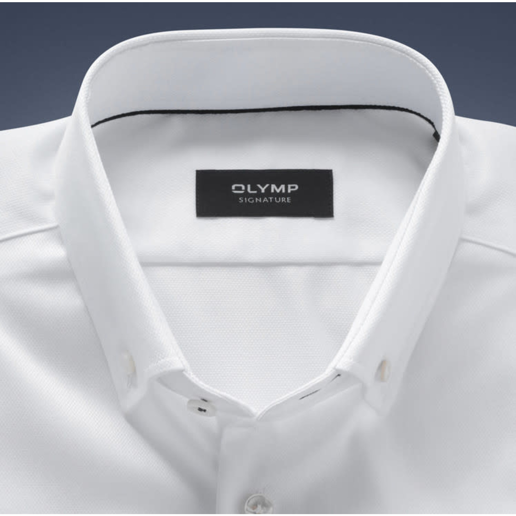 Olymp Signature overhemd wit met button down boord
