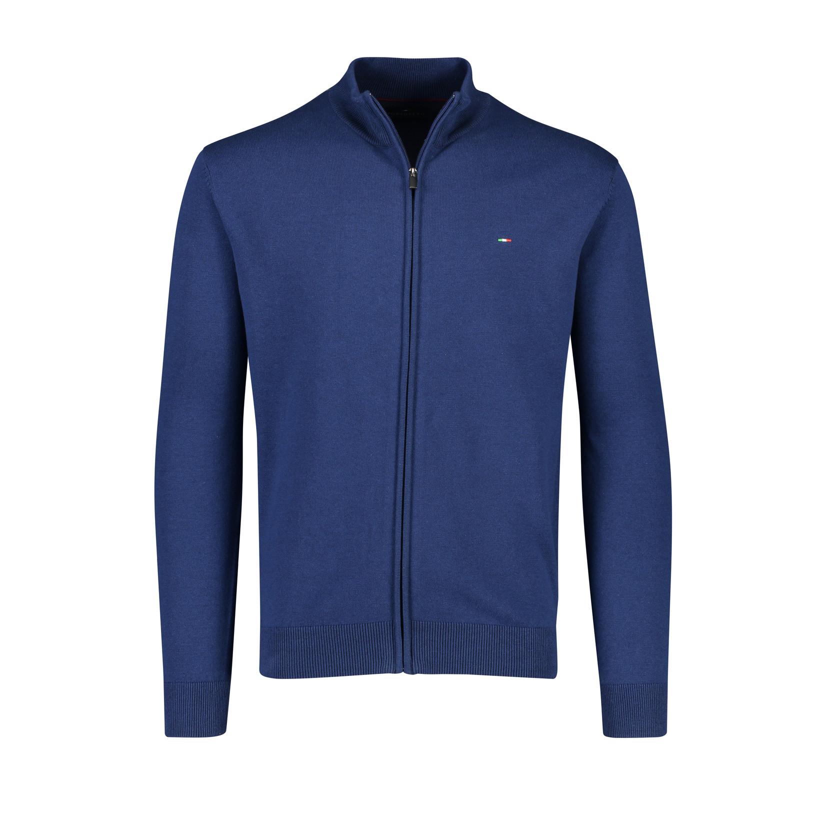 Portofino vest katoen jeansblauw