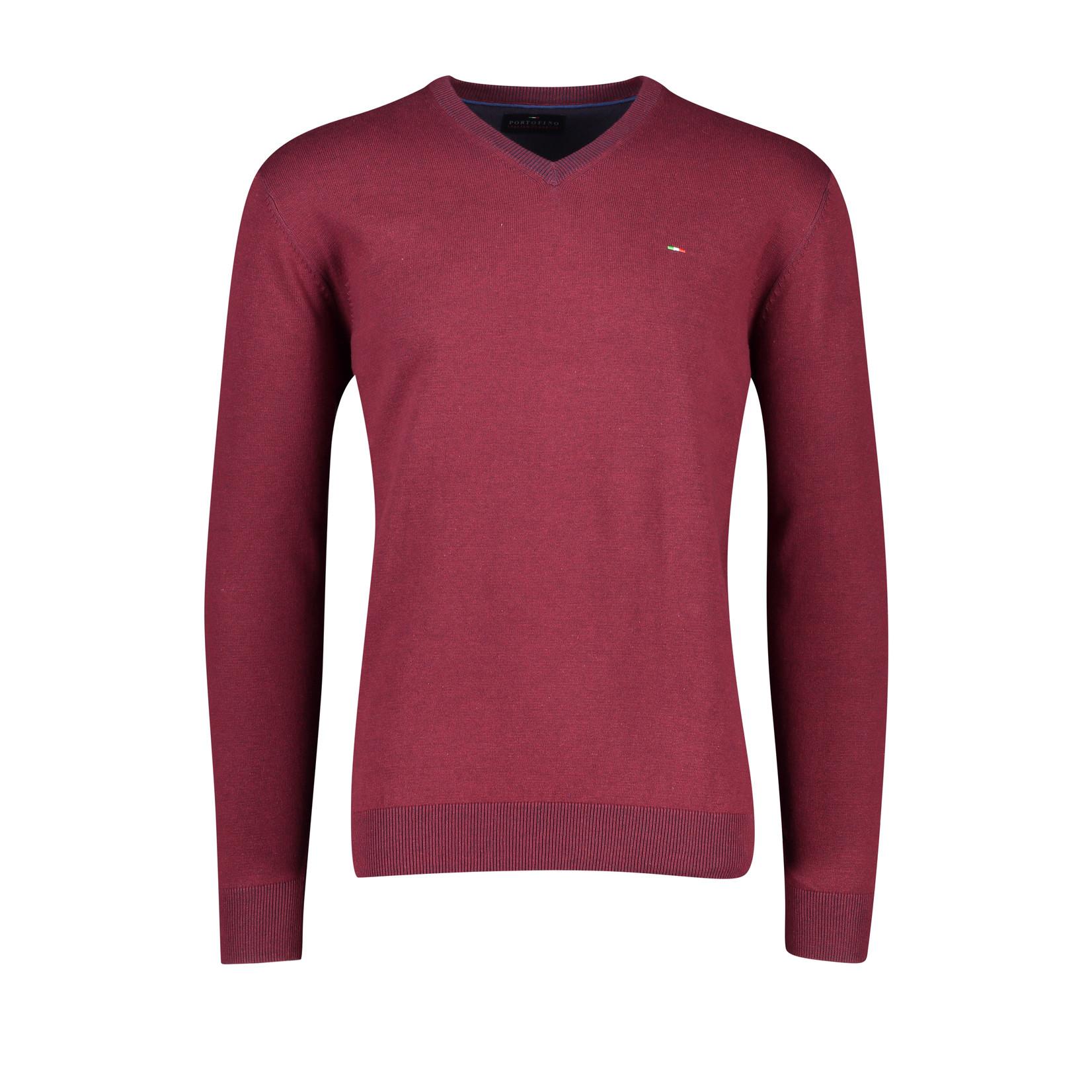 Portofino pullover katoen v-hals rood